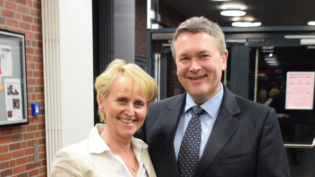Auch Frau Heesen freute sich über das neue Amt ihres Mannes