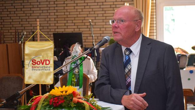 Ortsvorsitzender Manfred Pöschl begrüßte die Gäste und freute sich über die positive Resonanz.