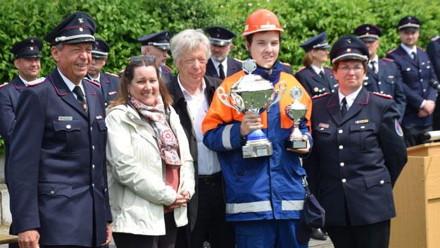Den von MdB Ernst-Dieter Rossmann (SPD) gestifteten Fairness-Pokal gewann die Jugendfeuerwehr Wedel