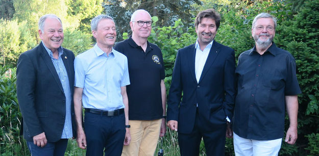 Das neue Lions-Präsidium: Stefan Böhme (Past-Präsident 2017/2018), Friedeman Dörfelt (stellv. Präisident), Jürgen Dunkhase (Schatzmeister), Robert Hüneburg (Präsident 2018/2019) und Bernd Harnack (Past-Präsident 2016/17)