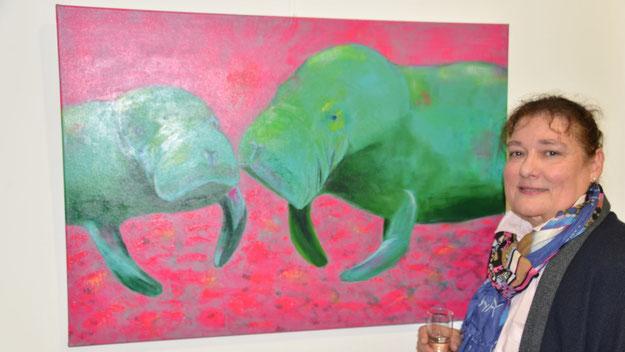 Mit diesem Bild ist Petra Keßler in der Ausstellung vertreten ....