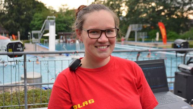 """Mitorganisatorin Melanie Günther, Jugendvorstand der DLRG, freute sich:""""Sogar einige Mütter haben auf dem Rasen getanzt!"""""""