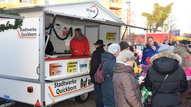Die Stadtwerke Quickborn boten leckere Getränke an