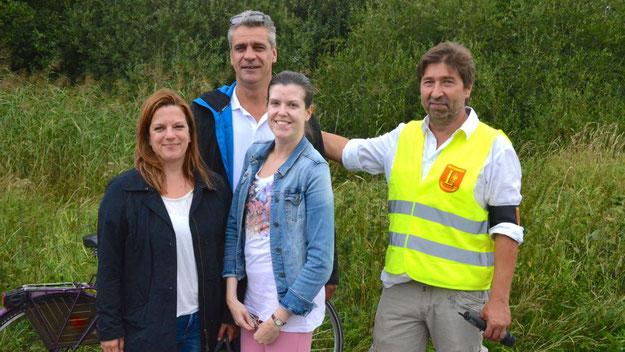 """Christian Rohde vom Diakonischen Werk unterstützten mit Helfern der """"Werkstatt"""" die Veranstaltung  als Streckenposten"""