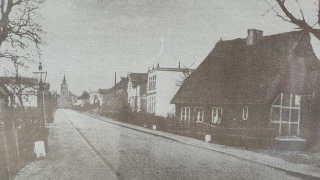 Ein Blick in die Pinneberger Straße um das Jahr 1906