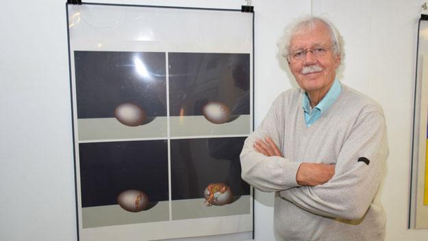 Auch Radio-Legende Carlo von Tiedemann besuchte gemeinsam mit seiner Frau die Ausstellung.