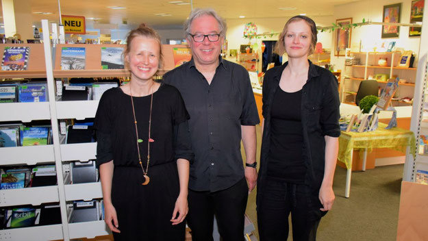 Sorgten für den musikalischen Rahmen: Anna Milewska (Klavier), Lorenz Jensen (Trompete) und Anke Meyn (Klavier) (v. l.)
