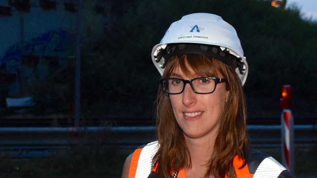 """Bauleiterin Kristina Trnkova war mit dem Verlauf der Bauarbeiten sehr zufrieden:""""Wir sind sogar etwas schneller als geplant."""""""""""