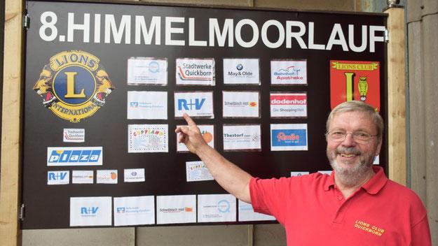 Lions-Vorsitzender Bernd Harnack freute sich über die zahlreichen Sponsoren.