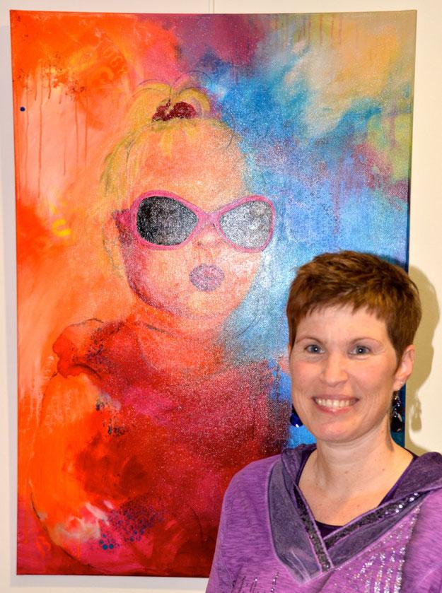 ... Tanja Brauer hatte aus ihrem Heimatort Flintbek u.a. dieses Bild mitgebracht.
