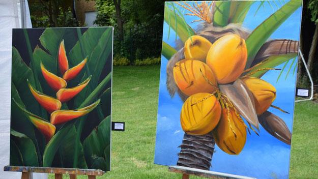 Farbenfrohe Motive bestimmten die Ausstellung.