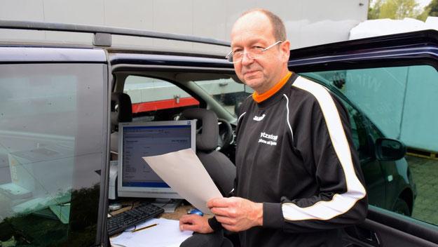 Torsten Riemenschneider von der Firma Wetzstopp sorgte für eine präzise Zeitmessung.