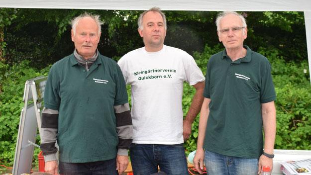 Auch einen Kleingärtnerverein gibt es in Quickborn, machten diese Herren deutlich.