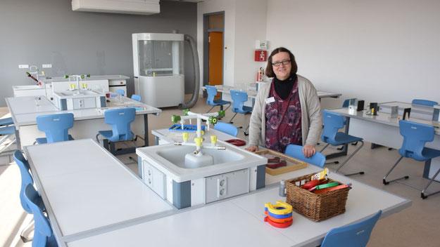 Perfekt ausgestattet: der neue Biologie-Raum