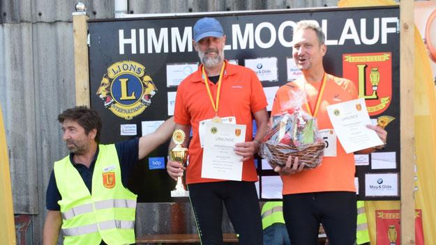 Die Sieger der 4,1-km-Walking-Runde: Bernd-Dieter Faltin, Joachim Echelmeyer und Lothar Quasthoff
