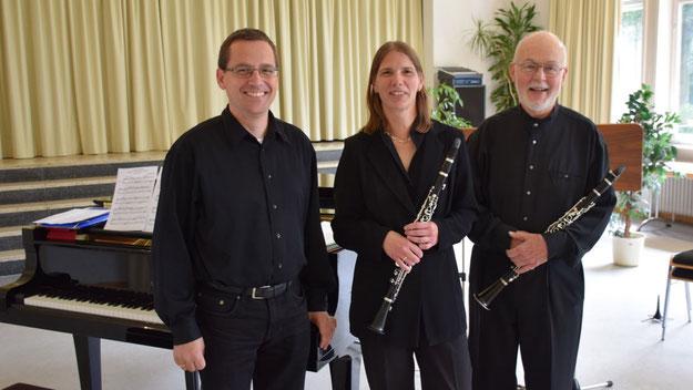 Das Eulen-Trio: Michael Schmult, Anja Hesse und Gerhard Schmidt