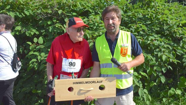 Hubertus Lamma war mit seinen 90 Jahren der älteste Teilnehner: Seit dem ersten Himmelmoorlauf ist er ununterbrochen dabei.