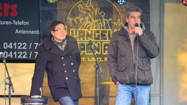 Christian Rohde eröffnete im Namen des Eulenringes gemeinsam mit Bürgermeister Köppl den 29. Weihnachtsmarkt