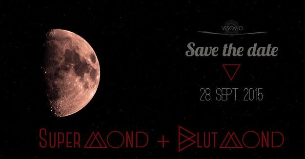 save the date:  supermond+blutmond 28. Sept. 2015 | mehr infos und eine how-to anleitung zum thema mondfotografie findet ihr unter www.visovio.de  #supermond #blutmond #bloodmoon #mondfotografie #astrofotografie #moFi2015 #lunareclipse