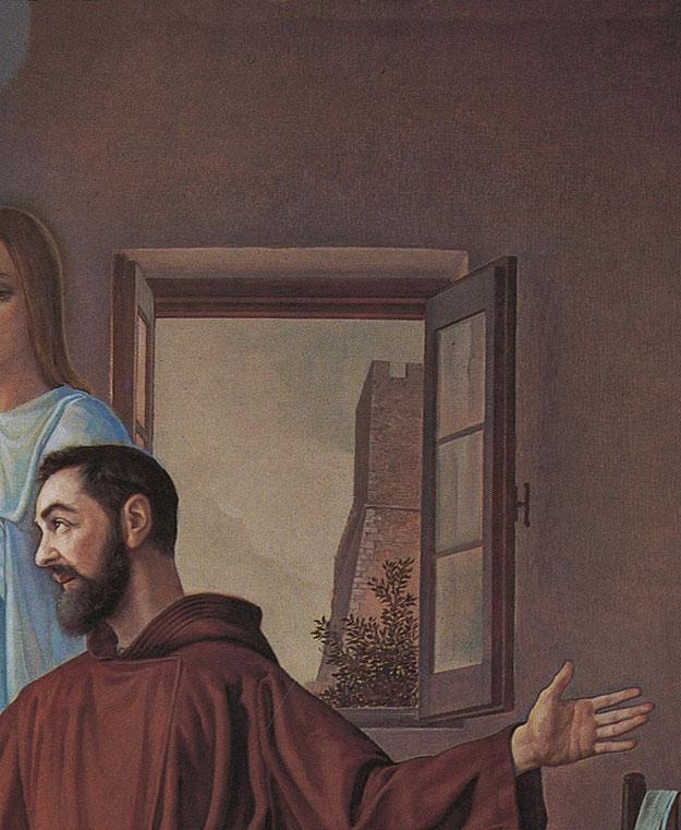Amedeo Trivisonno Apparizione della Madonna a Padre Pio (1972). Campobasso, chiesa di Santa Maria del Monte, particolare