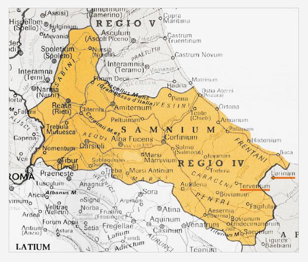 Regio IV augustea Sabina et Samnium