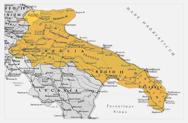 Regio II augustea Apulia et Calabria