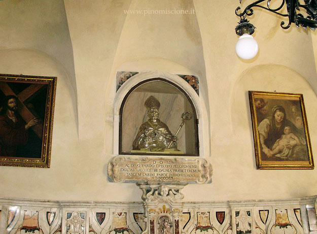 Busto di S. Pardo nella Sagrestia della Cattedrale di Larino