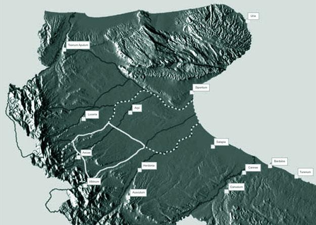 """Ipotesi di ricostruzione del """"saltus Carminianensis"""" e relativo territorio diocesano"""