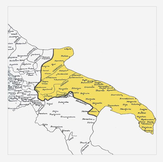 provincia Apulia et Calabria nel 346 d.C.