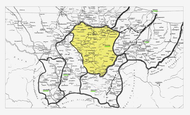Antichi confini delle diocesi ecclesiastiche dell'attuale Molise
