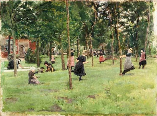 Max Liebermann, Spielende Kinder im Park