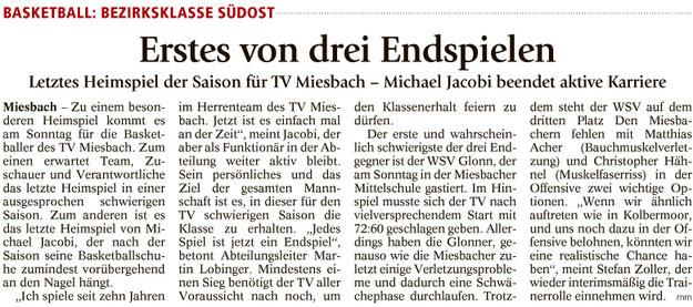 Artikel im Miesbacher Merkur am 17.3.2018 - Zum Vergrößern klicken