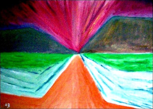Abstrakte Landschaft-Ölmalerei-Landschaft-Abstrakt-Moderne Malerei-Moderne Kunst-Ölbild-Ölgemälde