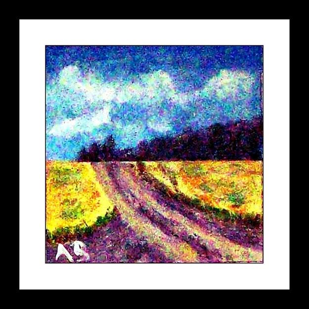 2016-07#01_Original Ölgemälde von Armin Behnert-Öl auf Malkarton-Bild 16 cm x 16 cm -Malgrund 20 cm x 20 cm