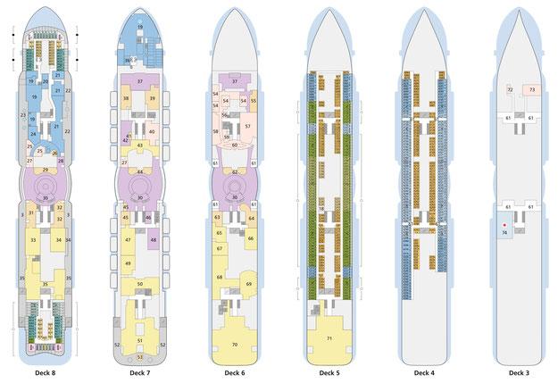 AIDAnova Decksplan