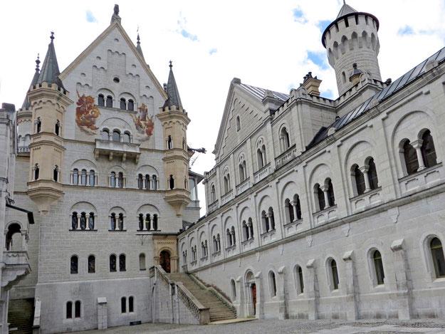 Vidinis Noišvanšteino pilies kiemas - Bavarija