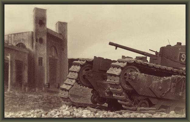 Churchill Mk.III  Dieppe Raid ; Diorama 1:35