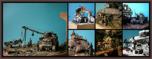 Diorama 1:35, WWII, Modellbau
