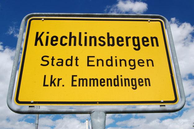 Ortsschild Kiechlinsbergen, Stadt Endingen, Landkreis Emmendingen
