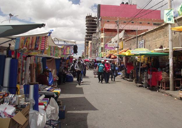 streets Oruro, Bolivia