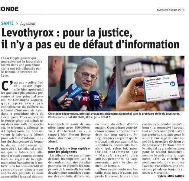 C. Leguevaques, avocat Levothyrox