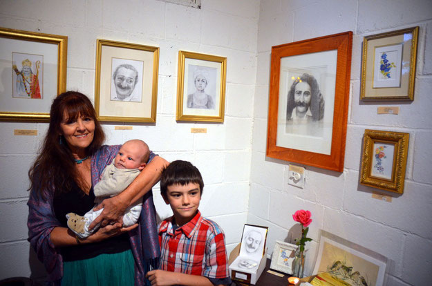 Meher Baba Art by Teri Adams 2013 & grandsons