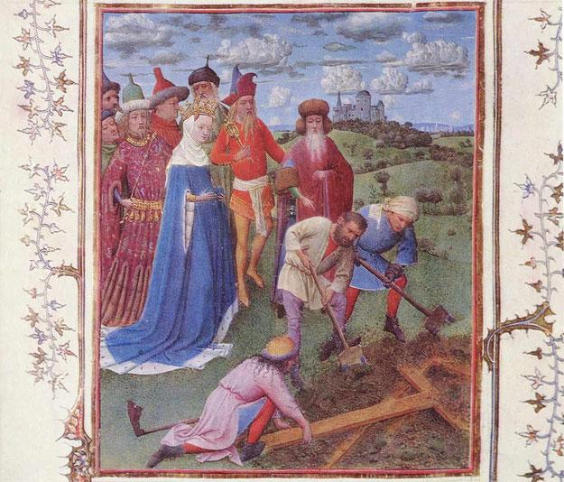 Helena beaufsichtigt die Ausgrabung des Heiligen Kreuzes in Jerusalem