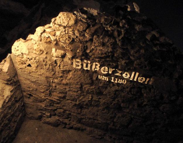 Büßerzelle im Kloster Walkenried aus der Zeit um 1180