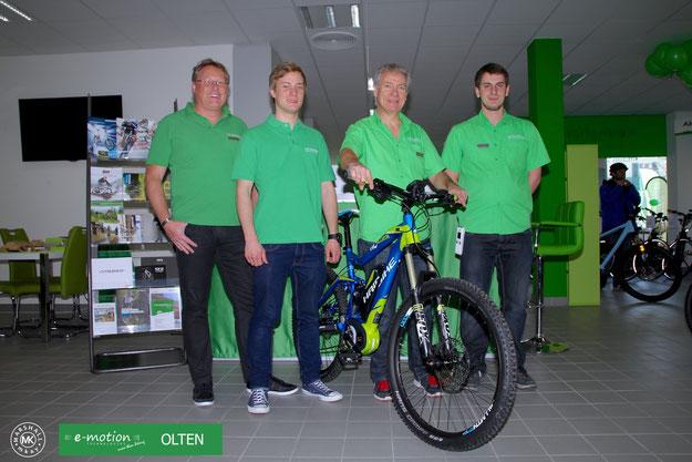 Erfolgsmeldung: Neue e-motion e-Bike Welt in Olten eröffnet