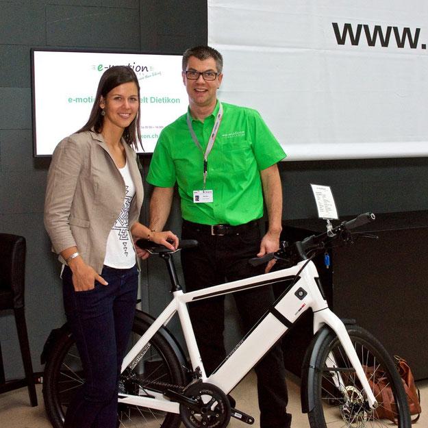 Melanie Oesch bei e-motion e-Bike Experten KMU Swiss Event in Baden