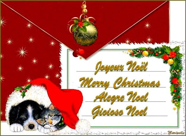 Joyeux Noël, Merry Christmas, Alegre Noel, Gioioso Noel