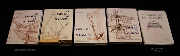 """Les 4 tomes """"Le Vaisseaux de 74 Canons"""" de Jean BOUDRIOT"""