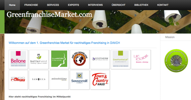 Screenshot www.GreenfranchiseMarket.com