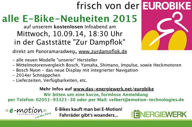 Eurobike 2014 News aus Velbert